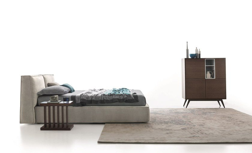 Storage bed with adjustable headrest MISTY - Ditre Italia