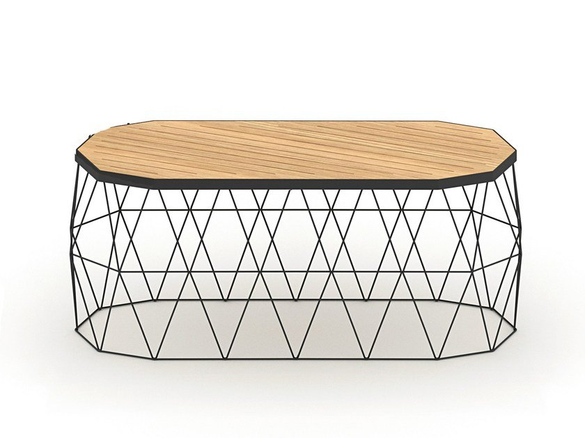 Steel and wood bench MITI BENCH - Specimen Editions