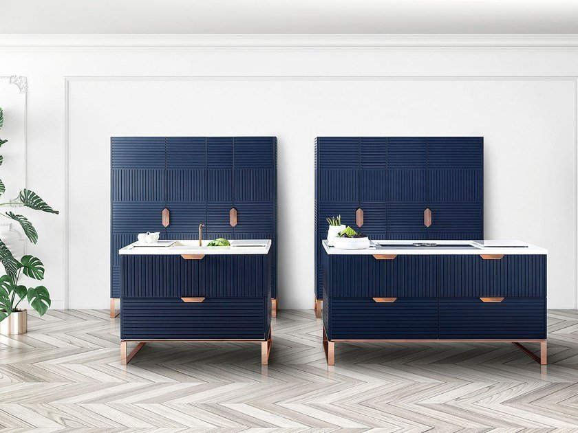 Kitchen with island with handles MIUCCIA by TM Italia Cucine