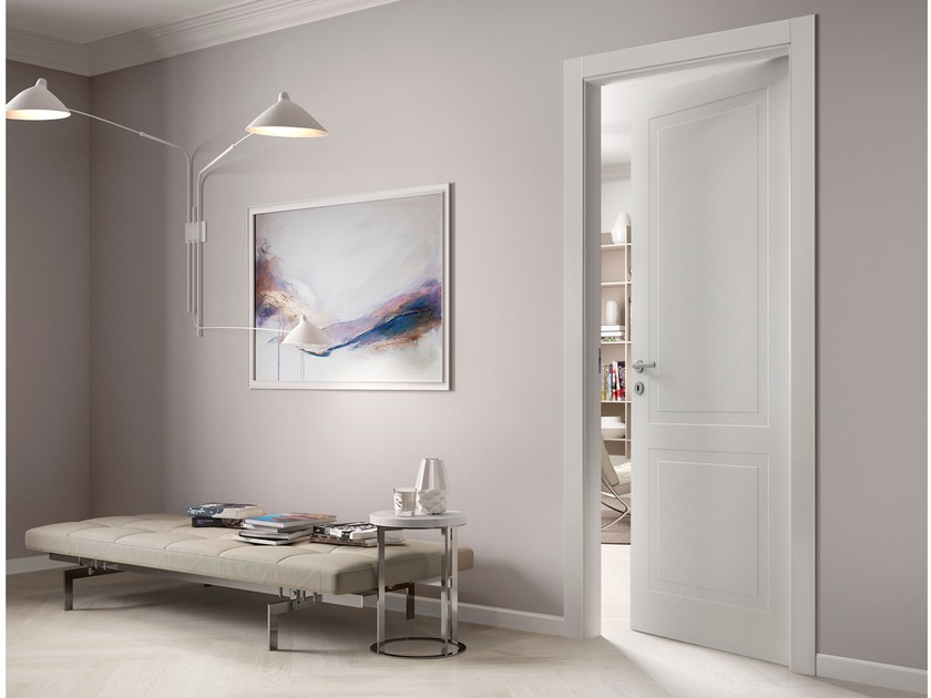 Hinged lacquered wooden door MIXY by FERREROLEGNO