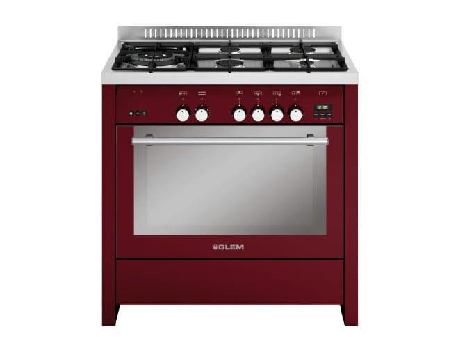 Cucina a libera installazione in acciaio ml944vbr by glem gas - Cucine a gas libera installazione ...