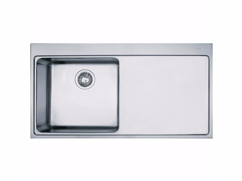 Lavello a una vasca da incasso in acciaio inox con sgocciolatoio MMX 211 - FRANKE