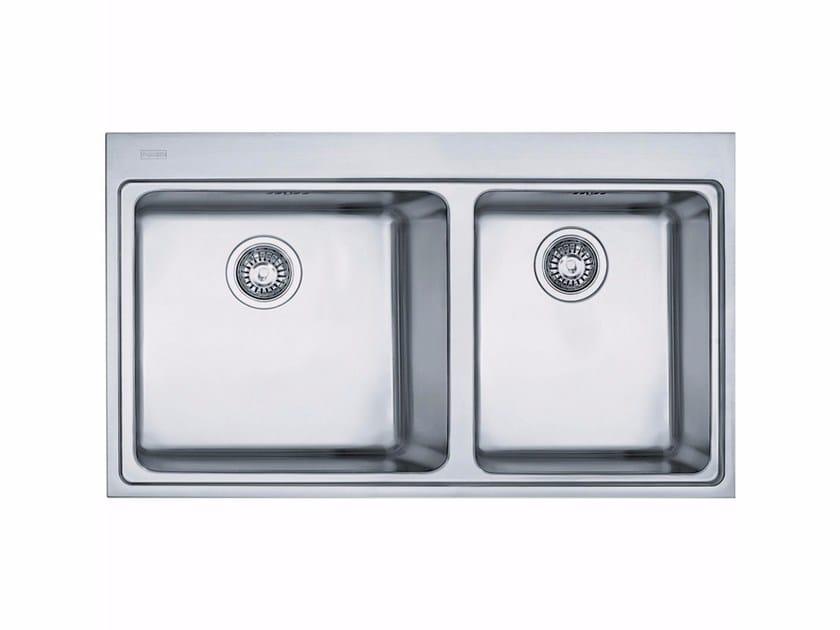 Lavello a 2 vasche da incasso in acciaio inox MMX 220 - FRANKE