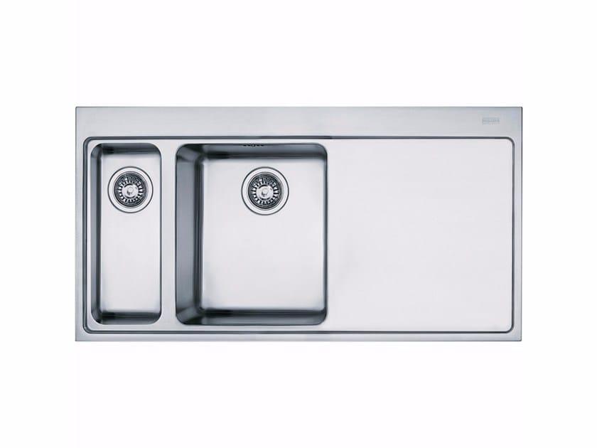 Lavello a una vasca e mezzo da incasso in acciaio inox con sgocciolatoio MMX 261 - FRANKE