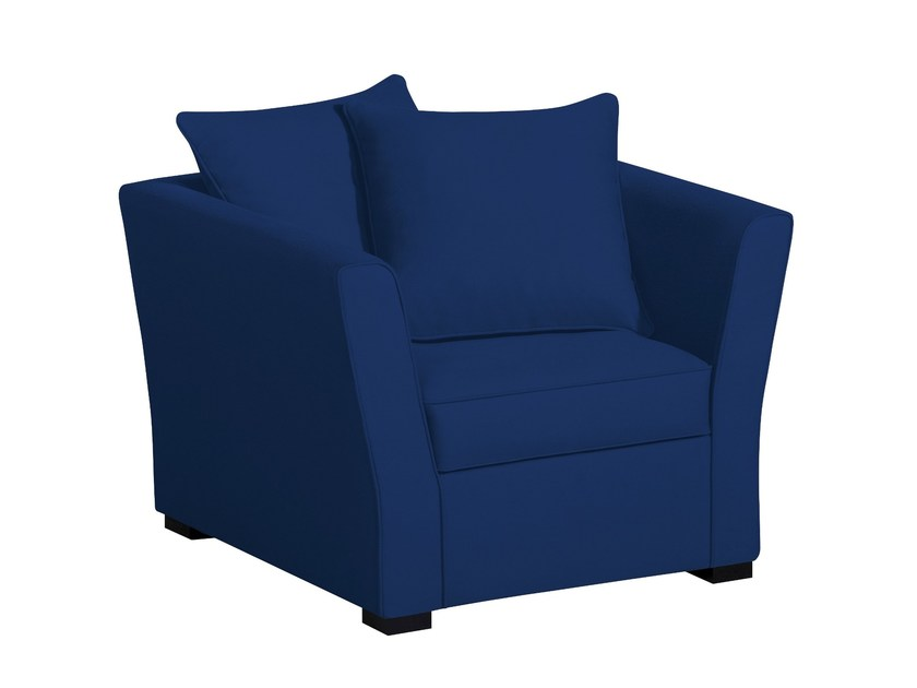 Fabric armchair with armrests MODÈLE G | Armchair - Home Spirit