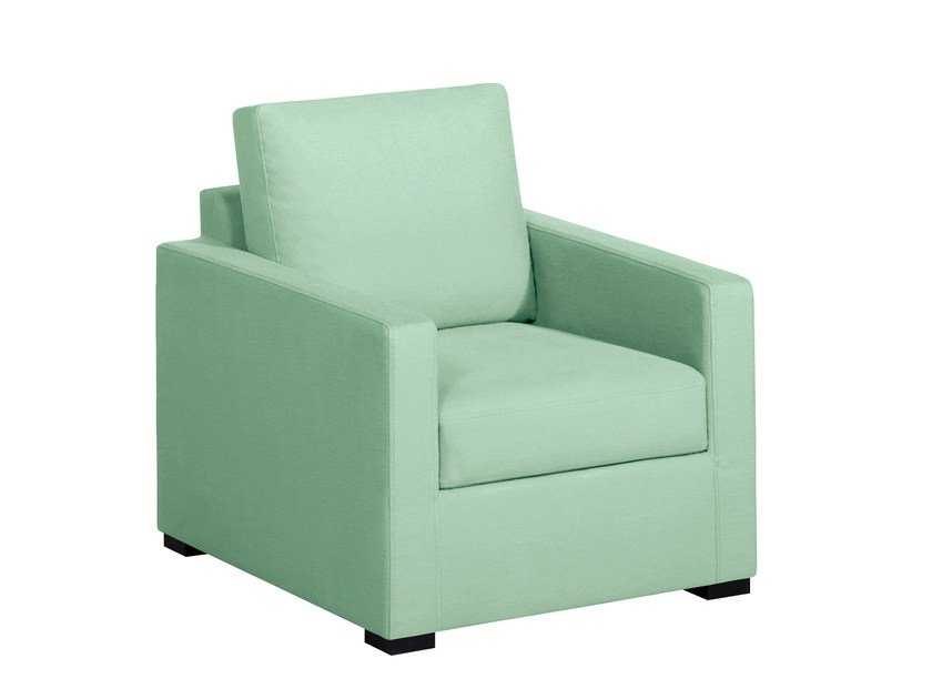 Fabric armchair with armrests MODÈLE H | Armchair - Home Spirit