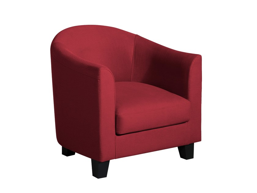 Fabric armchair with armrests MODÈLE I | Armchair - Home Spirit