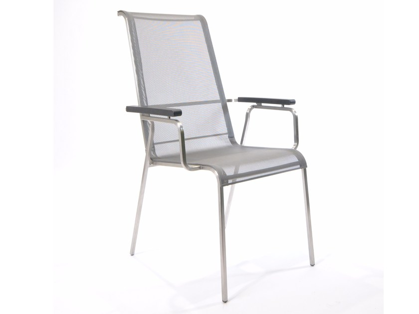 Recliner high-back fabric chair with armrests MODENA | High-back chair - FISCHER MÖBEL