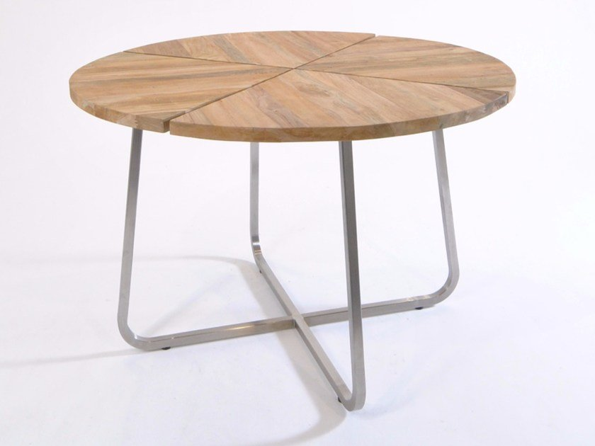 Tavolo da giardino rotondo in teak MODENA | Tavolo rotondo - FISCHER MÖBEL