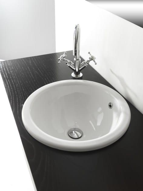 Lavabo da incasso soprapiano rotondo in stile moderno MODERN SANITARY WARE | Lavabo da incasso soprapiano - BLEU PROVENCE