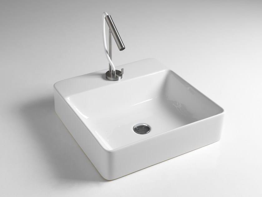 Contemporary style countertop rectangular washbasin MODERN SANITARY WARE | Rectangular washbasin - BLEU PROVENCE