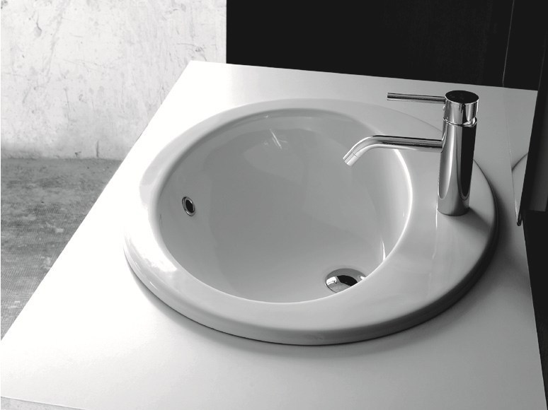 Contemporary style rectangular washbasin MODERN SANITARY WARE | Inset washbasin - BLEU PROVENCE