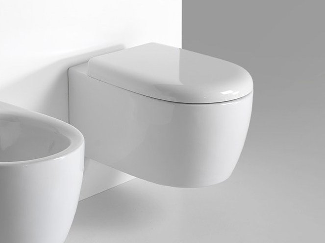 Contemporary style wall-hung toilet MODERN SANITARY WARE | Wall-hung toilet - BLEU PROVENCE