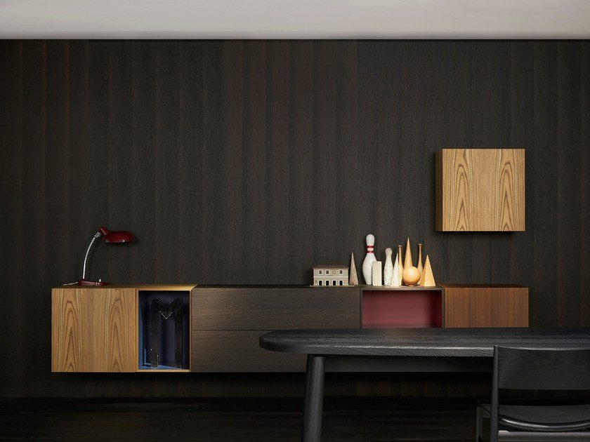 Lacquered sideboard with drawers MODERN | Suspended sideboard by Porro