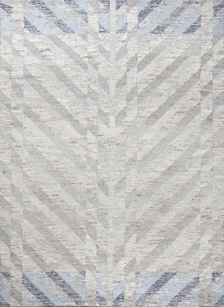 Handmade wool rug with geometric shapes MODERNIST NORDIC by EBRU