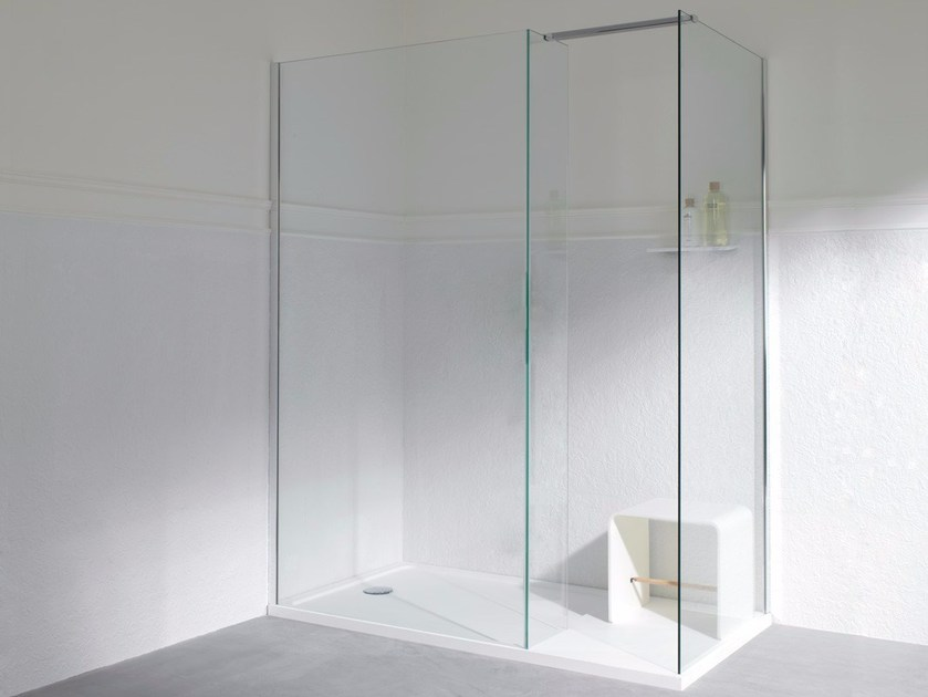 Tempered glass shower cabin with tray MODUL | Shower cabin with tray - Systempool