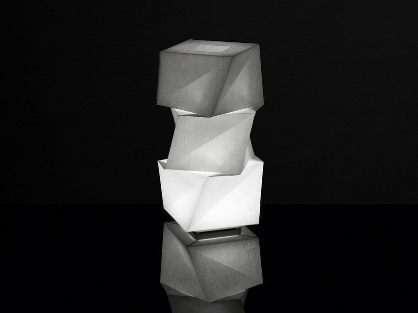 Recycled material floor lamp MOGURA MINI - Artemide