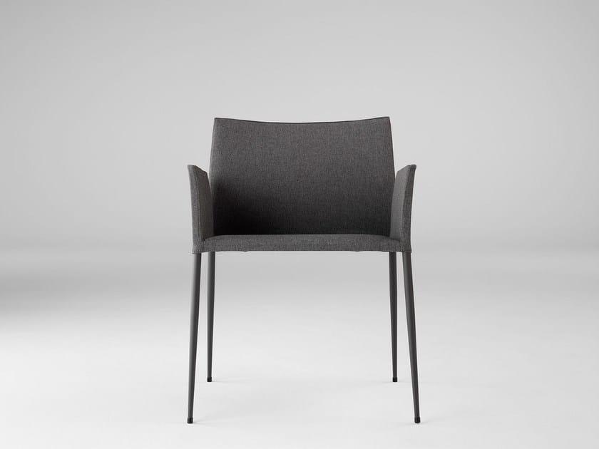Fabric chair with armrests MOKA XL - ONDARRETA