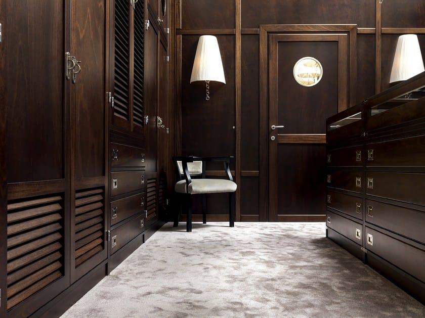 Classic style built-in corner wooden bridge wardrobe MOKA | Sectional wardrobe - Caroti