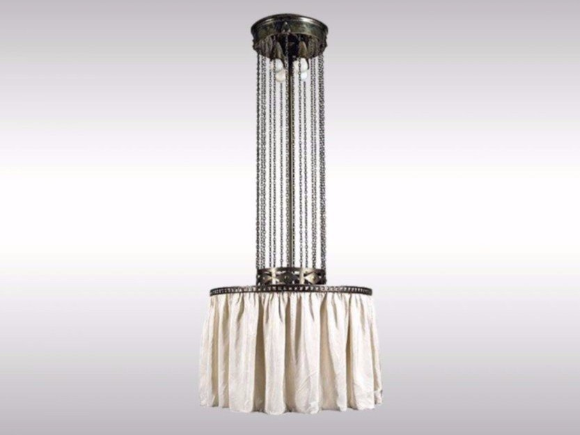 Indirect light fabric pendant lamp MOLDAUER LUSTER - Woka Lamps Vienna