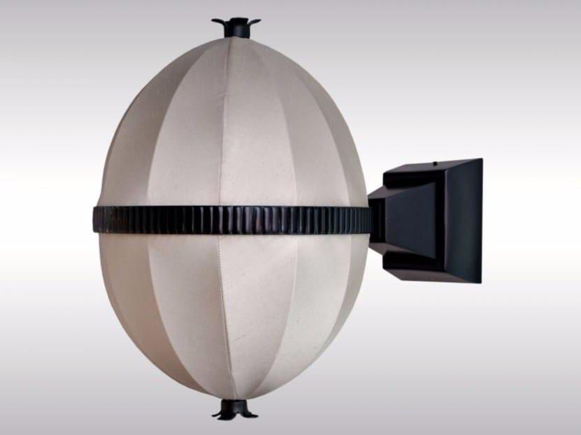 Silk and brass wall lamp MOLDAUER - Woka Lamps Vienna