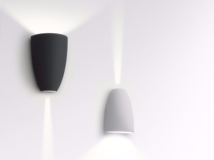 LED direct-indirect light aluminium Wall Lamp MOLLA by Artemide