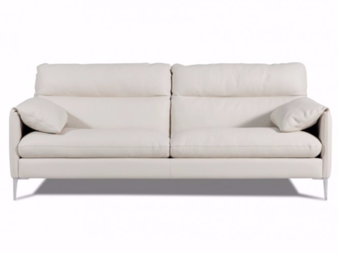 3 seater leather sofa MONACO - Canapés Duvivier