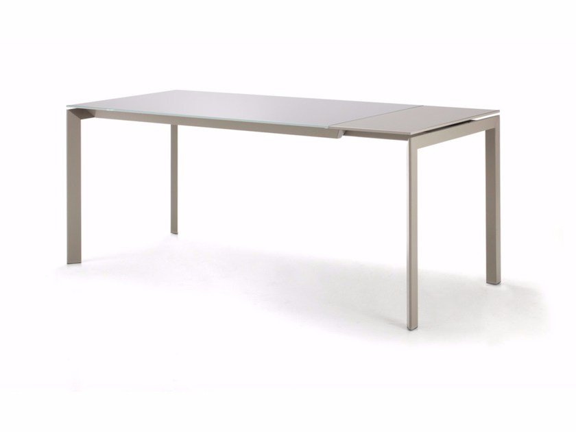 Extending rectangular crystal table MONDAY - Cattelan Italia