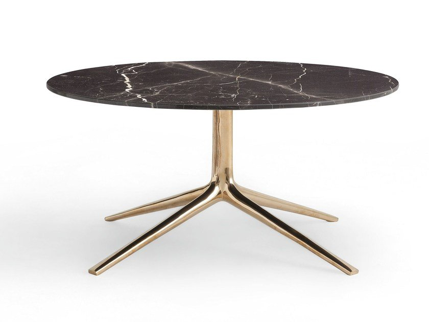 Low round marble coffee table MONDRIAN | Round coffee table - Poliform