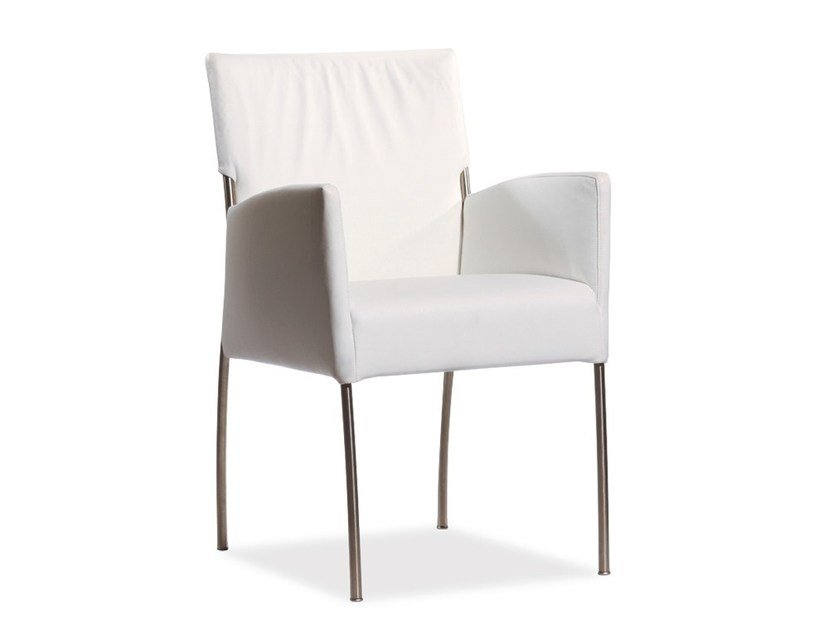Upholstered chair with armrests MONET | Chair with armrests - Joli