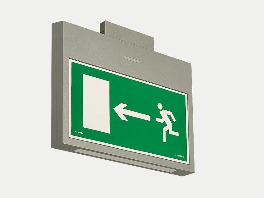 LED ceiling-mounted plastic emergency light MONITOR2 IP40 by ES-SYSTEM