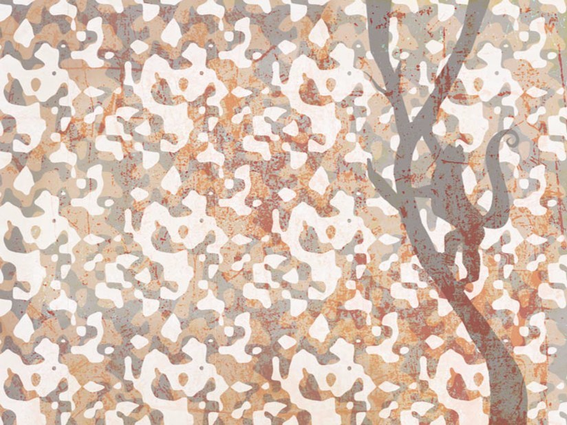 Wallpaper MONKEY CAMOUFLAGE - Wallpepper
