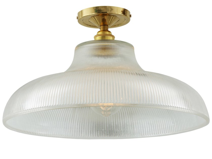 LED brass ceiling lamp MONO INDUSTRIAL 38CM RAILWAY FLUSH - Mullan Lighting