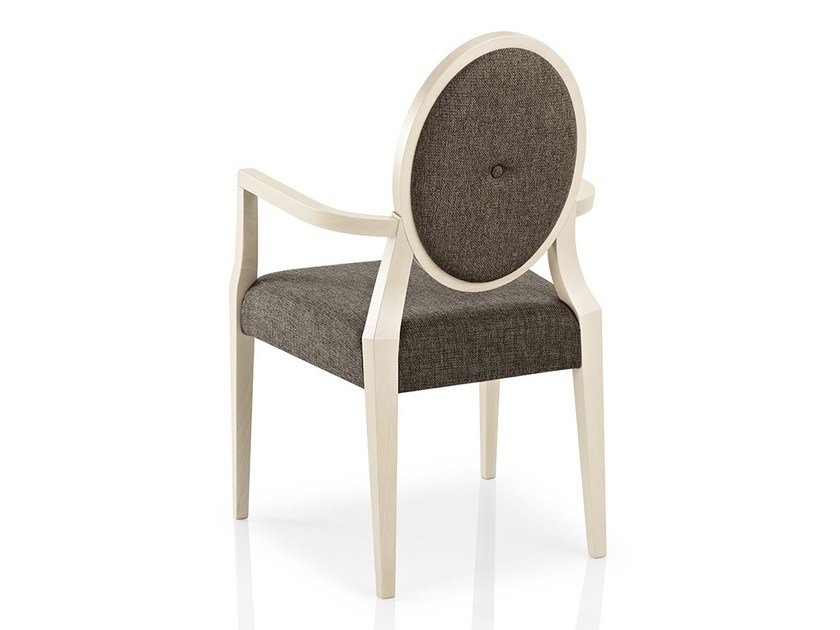 Fabric chair with armrests MONOLISA | Restaurant chair by JMS