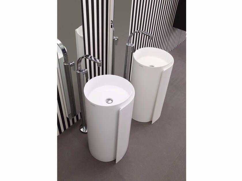 Freestanding ceramic washbasin MONOROLL | Freestanding washbasin - CERAMICA FLAMINIA