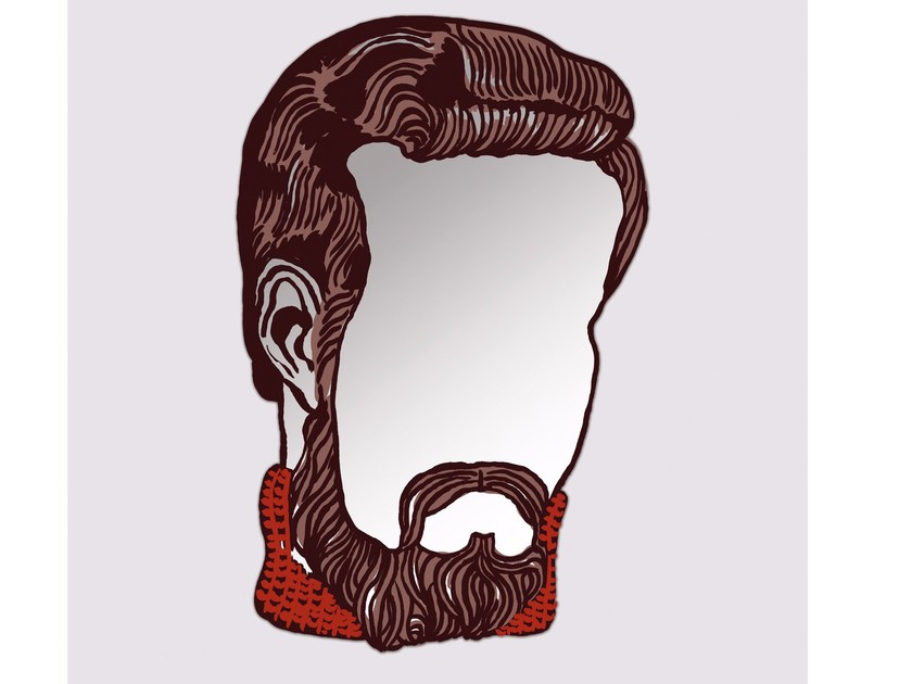 Wall-mounted mirror MONSIEUR by Moustache