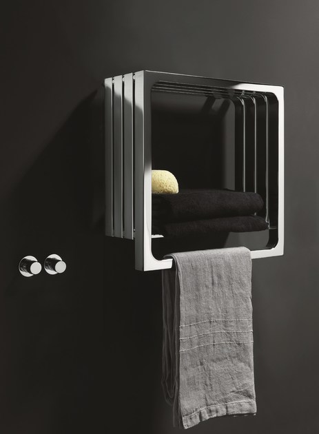 Chrome wall-mounted towel warmer MONTECARLO | Chrome towel warmer - Tubes Radiatori