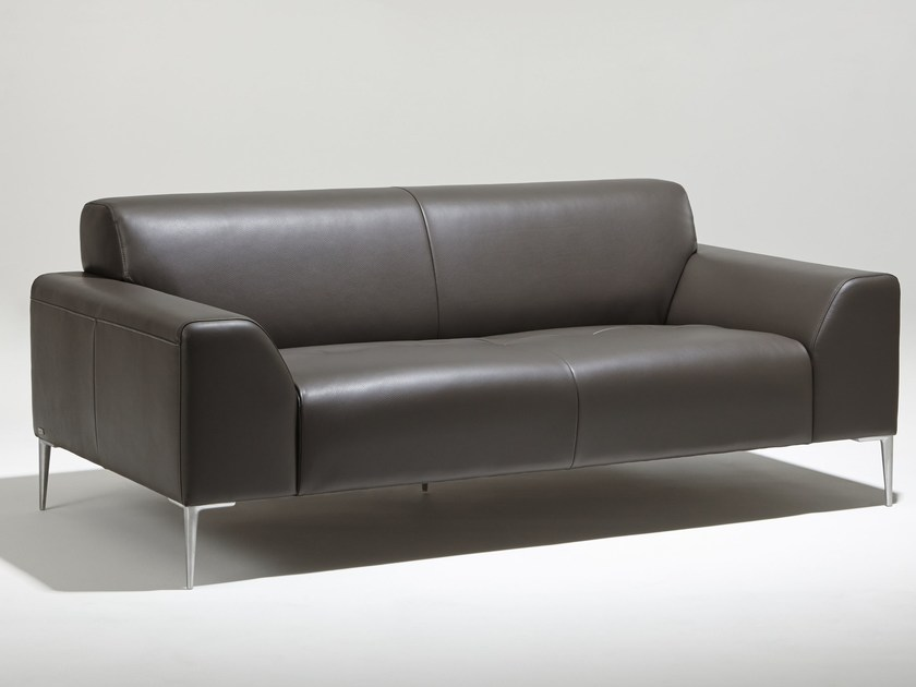 Upholstered 2 seater leather sofa MONTMARTRE | 2 seater sofa by Burov