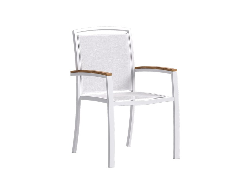 Stackable garden chair with armrests MOOD | Chair with armrests by Atmosphera