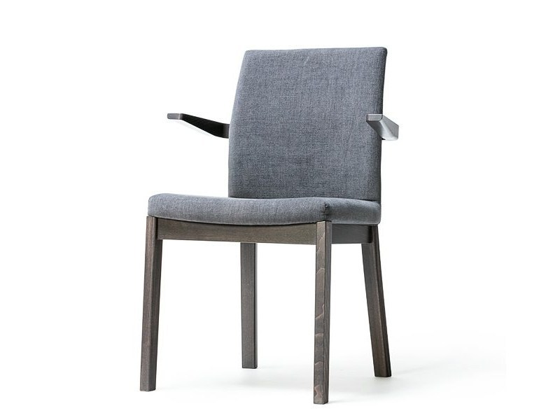 Fabric chair with armrests MOON | Chair with armrests - TON
