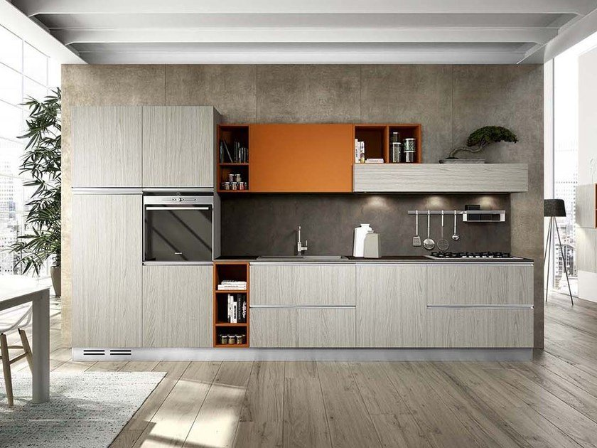 Fitted kitchen with handles MOON DUNA DIVA by ARREDO 3