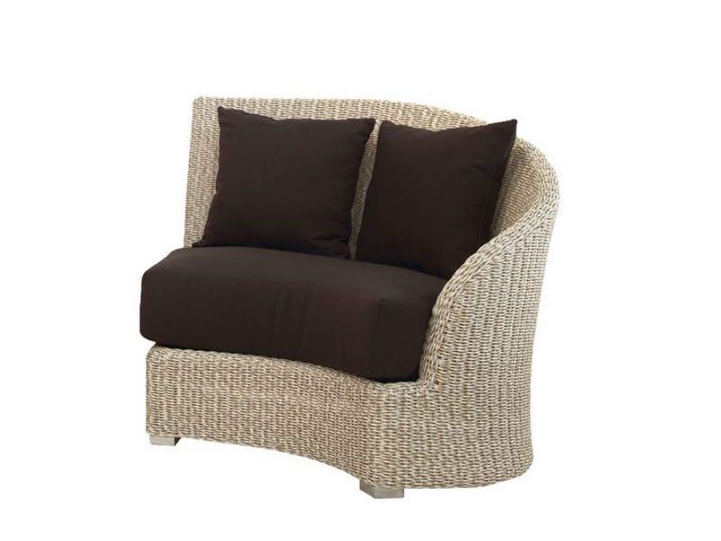 Upholstered garden armchair MOON DX - Atmosphera