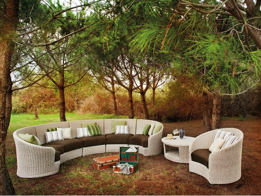 Sectional upholstered garden sofa MOON | Sectional sofa - Atmosphera