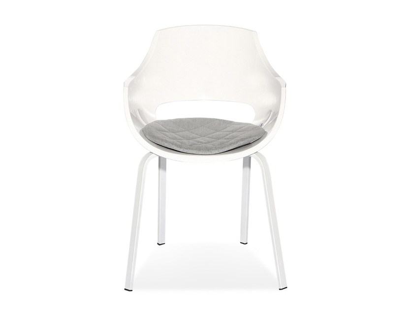 Polycarbonate chair with integrated cushion MOON - Joli