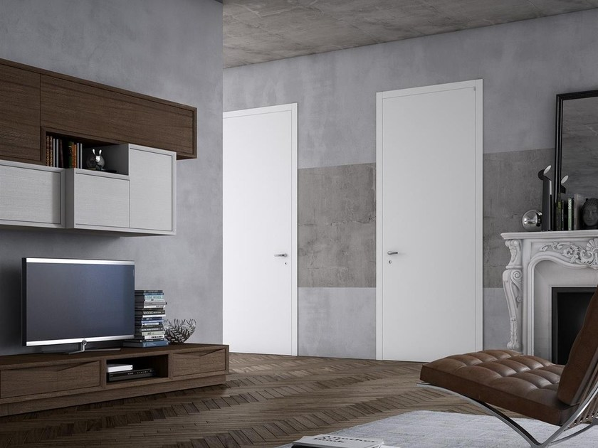 Hinged lacquered door MOON LACQUERED by Door 2000