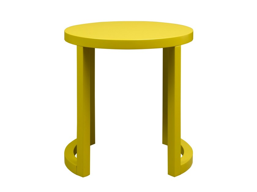Lacquered MDF side table MOON   Lacquered coffee table by HMD INTERIORS