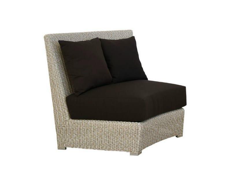 Upholstered garden armchair MOON | Garden armchair - Atmosphera