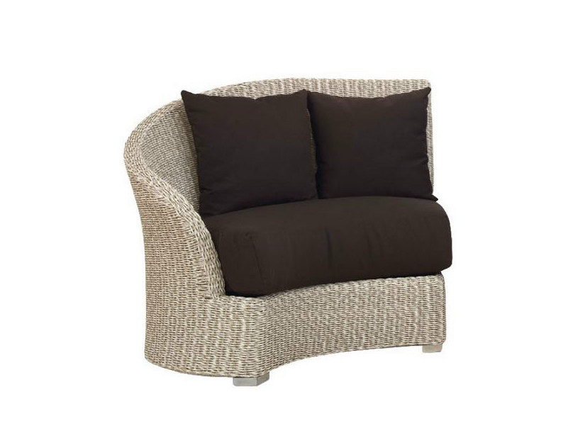 Upholstered garden armchair MOON SX - Atmosphera