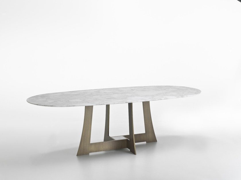 Oval marble table MOORE | Table - i 4 Mariani
