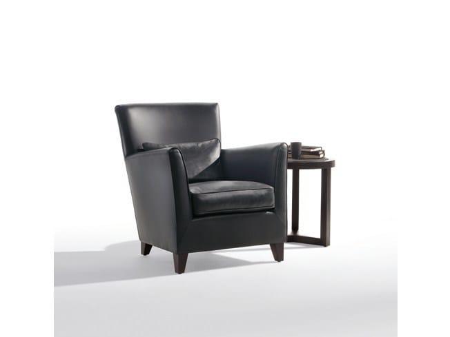 Leather armchair with armrests MORGANA | Leather armchair - Marac